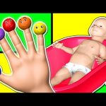 3D Finger Family Collection – Daddy Finger Nursery Rhymes – Learn Colours with Baby Bath Color Balls