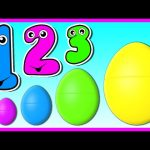 3D Surprise Eggs Smallest to Biggest! Learn To Count 1 to 5 – Teach Numbers for Kids Baby Toddler