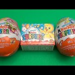 A Surprise Egg Easter Party! Opening 2 Jumbo Kinder Surprise Eggs and More!