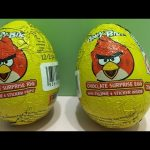 Angry Birds Chocolate Surprise Eggs unboxing with Toys inside!!!