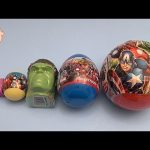 Avengers Surprise Eggs Learn Sizes Big Bigger Biggest! Opening Eggs with Toys and Candy!