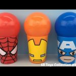 Ball Surprise Cups Spider Man Iron Man Captain America Marvel Avengers Surprise Egg and Mashems Toys