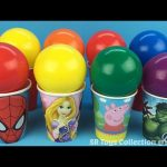 Balls Surprise Cups Spider Man Marvel Avengers Disney Princess Cars Peppa Pig Surprise Eggs and Toys