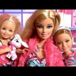 Barbie Sisters Slumber Party SLEEPOVER with Princess Anna Elsa Disney Frozen ディズニー
