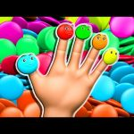 Candy Balls Finger Family 3D for Kids to Learn Colors | Surprise Eggs Nursery Rhymes Color Song