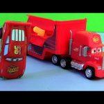 Cars 2 Stunt Racers Mack Truck Hauler with Lightning McQueen Transforming Transporter Disney Pixar