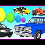 Cars for Kids – 3D Surprise Eggs Smallest to Biggest – Vehicles for Children to Learn Colours