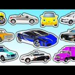 Cars For Kids Collection | Learn Colors with Cars and Trucks | Learn Street Vehicles Names & Sounds
