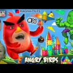 Chase's Corner: ANGRY BIRDS & HULK Smash MAGNA TILES Magnetic Building w/ Shawn (#36) | DOH MUCH FUN