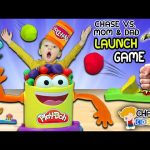Chase's Corner: PLAY-DOH LAUNCH GAME! Kid vs. Parents Challenge w/ Mystery Boxes (#30)| DOH MUCH FUN