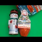 Christmas Party! Opening a Snowman Can Filled with Surprise Eggs and Huge JUMBO Kinder Surprise Egg!