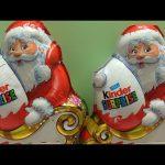 Christmas Santa Claus Kinder Chocolate Surprise Eggs Opening, Beautiful TOYS inside
