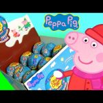 Chupa Chups Peppa Pig Christmas Surprise Box of Choco Eggs with Mommy Daddy George Pig Чупа Чупс