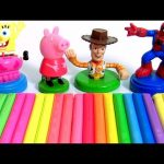 Clay Buddies Collection Learn Colors of Peppa Pig Marvel Spiderman SpongeBob Woody Play-Doh Stampers