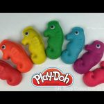 Colorful Play-Doh Seahorse Surprise Toys Maya the Bee Shopkins Spongebob Donald Duck Winnie the Pooh