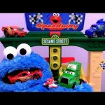 Cookie Monster Race Track Micro Drifters Cars Planes Speedway Sesame Street Disney Pixar trucks