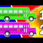 Counting School Buses & Explosions 2★ Learn Colours Opening Animated Surprise Eggs! Colors & Numbers
