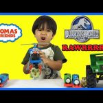 Dinosaur Toys for kids Jurassic World Unboxing Playtime Thomas and Friends  Ryan ToysReview