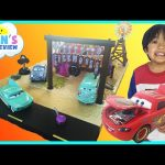 Disney Cars Toys Precision Series Fillmore's Taste In Cafe Play set  McQueen Toy Cars for kids