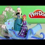 Disney Frozen Swirling Snow Sleigh Ride Anna & Elsa Magiclip Trineo de Aventuras Play Doh Sparkle