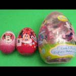 Disney Minnie Mouse Surprise Eggs Learn Sizes Big Bigger Biggest! Opening Eggs with Toys and Candy!