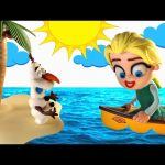 Elsa Lost at Sea * Disney Frozen Movie Clips of Play Doh Stop Motion Animation