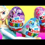 Elsa Shopping for My Little Pony Kinder Eggs Surprise NEW MLP Toys Huevos Disney Frozen