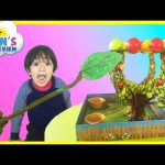 Family Fun Game Night for Kids Apple Pop games Egg Surprise Toys Ryan ToysReview