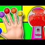 Finger Family 3D Learn Colors Collection – Gumball Machine Color Balls Daddy Finger Nursery Rhymes
