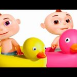 Five Little Babies Bathing In A Tub | Zool Babies Fun Songs | Nursery Rhymes For Babies