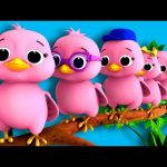 "Five Little Birds | Nursery Rhymes | Original Song based on ""5 Little Ducks"" by LittleBabyBum!"