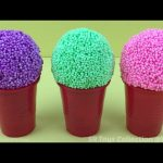 Foam Clay Ice Cream Surprise Eggs Mickey Mouse Iron Man Olaf Barbie and Maya the Bee Toys