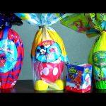 Giant Easter Spiderman Egg Surprise, Kinder Dinosaur, Giant Mickey Egg Surprise, SpongeBob