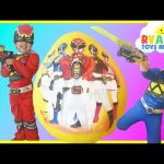 GIANT EGG SURPRISE OPENING POWER RANGER DINO CHARGE Kinder Egg Nickelodeon Toys Kids Video