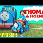 GIANT THOMAS AND FRIENDS SURPRISE TENT Thomas Power Wheels with track Egg Surprise Toys Kids Video