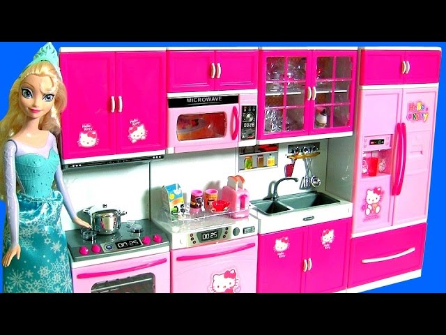 Hello Kitty Deluxe Kitchen Toy Cooking With Elsa Disney