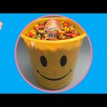 Hidden Surprise Eggs in a Bucket Full of Candy! With a Giant Kinder Surprise!