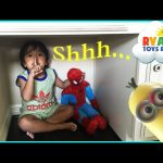 Hide N Seek Family Fun with Spiderman Thomas and Friends Minions Paw Patrol toys for kids