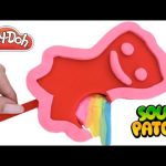 How to Make a Play Doh & Slime Sour Patch Popsicle DIY RainbowLearning