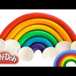 How to Make a Rainbow with Play Doh | Learn Colors Preschool | RainbowLearning