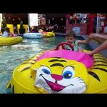 Indoor playground for kids with inflatable boats .Video from  KIDS TOYS CHANNEL