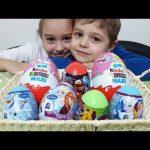 Kids opening surprise eggs toys. Disney,  cars, puzzle, elsa , rapunzel …Funny video