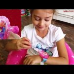 Kids playing with toys surprise . Bubbles watches with barbie and spiderman. Funny video
