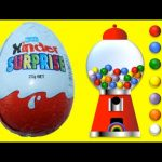 Kinder Egg Learn Colours and Counting with Gumballs | Rainbow Learning
