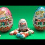 Kinder Surprise Egg Easter Party!  Opening 2 Huge Surprise Eggs!
