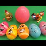 """Kinder Surprise Egg Learn-A-Word! Spelling Food """"Lesson A"""" (Teaching Letters Opening Eggs & Toys)"""