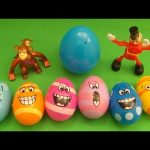 "Kinder Surprise Egg Learn-A-Word! Spelling Food ""Lesson B"" (Teaching Letters Opening Eggs & Toys)"