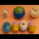 """Kinder Surprise Egg Learn-A-Word! Spelling Food """"Lesson N"""" (Teaching Letters Opening Eggs & Toys)"""