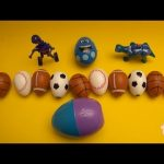 Kinder Surprise Egg Learn-A-Word! Spelling Sports! Lesson 11 (Teaching Letters Opening Eggs)