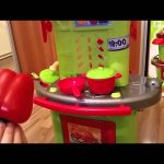 Kitchen set toys. Kids cooking food .Cute video for girls